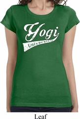 Ladies Yoga Shirt Yogi University Longer Length Tee T-Shirt