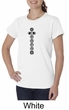 Ladies Yoga T-shirt 7 Chakras Black Print Organic Tee