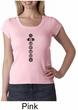 Ladies Yoga T-shirt 7 Chakras Black Print Scoop Neck Shirt