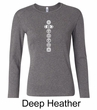 Ladies Yoga T-shirt 7 Chakras White Print Long Sleeve Shirt