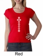 Ladies Yoga T-shirt 7 Chakras White Print Scoop Neck Shirt