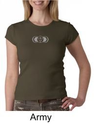 Ladies Yoga T-shirt � AJNA Third Eye Chakra Sign Crew Neck Shirt