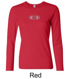 Ladies Yoga T-shirt � AJNA Third Eye Chakra Sign Long Sleeve Shirt