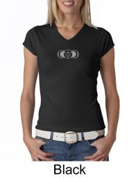 Ladies Yoga T-shirt � AJNA Third Eye Chakra Sign V-neck Shirt