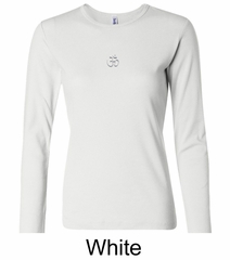 Ladies Yoga T-shirt – Aum Hindu Patch Long Sleeve Shirt