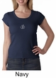Ladies Yoga T-shirt – Aum Hindu Patch Scoop Neck Shirt