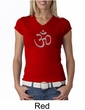 Ladies Yoga T-shirt – Aum Symbol Meditation V-neck Shirt