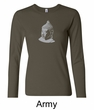 Ladies Yoga T-shirt – Buddha Big Print Long Sleeve Shirt