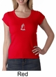 Ladies Yoga T-shirt – Buddha Small Print Scoop Neck Shirt