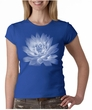 Ladies Yoga T-shirt Lotus Flower Crew Neck Shirt