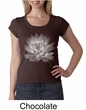 Ladies Yoga T-shirt Lotus Flower Scoop Neck Shirt