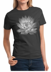 Ladies Yoga T-shirt Lotus Flower Shirt
