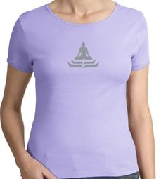 Ladies Yoga T-shirt � Lotus Pose Meditation Cotton Tee Shirt