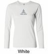 Ladies Yoga T-shirt – Lotus Pose Meditation Long Sleeve Shirt