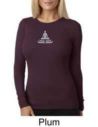 Ladies Yoga T-shirt � Lotus Pose Meditation Thermal Shirt