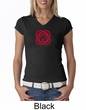 Ladies Yoga T-shirt – Muladhara Root Chakra V-neck Shirt