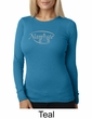 Ladies Yoga T-shirt – Namaste Big Print Thermal Shirt