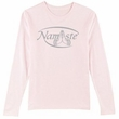 Ladies Yoga T-shirt – Namaste Meditation Long Sleeve Shirt