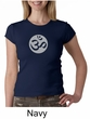 Ladies Yoga T-shirt – Om Symbol Big Print Crew Neck Shirt