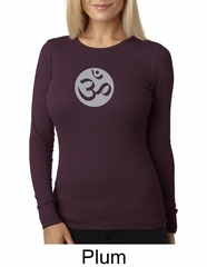 Ladies Yoga T-shirt – Om Symbol Big Print Thermal Shirt