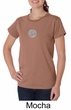 Ladies Yoga T-shirt – Om Symbol Small Print Organic Tee