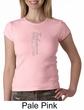 Ladies Yoga T-shirt Tadasana Mountain Pose Crew Neck Shirt