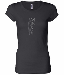 ladies yoga tshirt tadasana mountain pose longer length