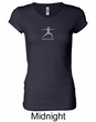 Ladies Yoga T-shirt – Warrior 2 Pose Longer Length Shirt