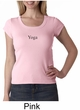 Ladies Yoga T-shirt – Yoga Meditation Scoop Neck Shirt