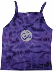 Ladies Yoga Tank – Om Symbol Purple Tie Dye Tanktop