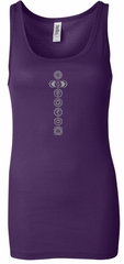 Ladies Yoga Tank Top 7 Chakras Meditation Longer Length Tanktop