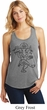 Ladies Yoga Tank Top Black Sketch Ganesha Racerback
