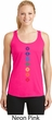 Ladies Yoga Tank Top Diamond Chakras Dry Wicking Racerback