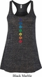 Ladies Yoga Tank Top Diamond Chakras Flowy Racerback