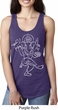 Ladies Yoga Tank Top Sketch Ganesha White Print Ideal Racerback