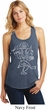 Ladies Yoga Tank Top Sketch Ganesha White Print Racerback