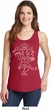 Ladies Yoga Tank Top Sketch Ganesha White Print Tanktop