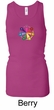 Ladies Yoga Tanktop 7 Chakra Circle Longer Length Racerback Tank Top