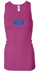 Ladies Yoga Tanktop Floral Ajna Longer Length Racerback Tank Top