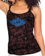 Ladies Yoga Tanktop Floral Ajna Tie Dye Camisole Tank Top