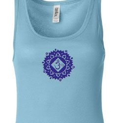 Ladies Yoga Tanktop Floral Sahasrara Longer Length Tank Top