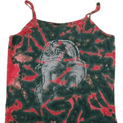 Ladies Yoga Tanktop Ganesha Profile Tie Dye Camisole Tank Top
