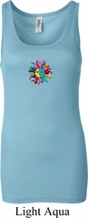 Ladies Yoga Tanktop Hippie Sun Patch Middle Longer Length Tank Top