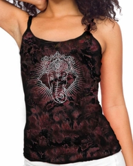 Ladies Yoga Tanktop Iconic Ganesha Tie Dye Tank Top