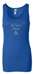 Ladies Yoga Tanktop Jai Guru Deva Longer Length Tank Top
