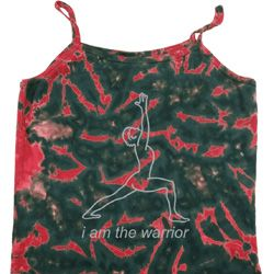 Ladies Yoga Tanktop Line Warrior Tie Dye Camisole Tank Top
