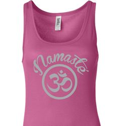Ladies Yoga Tanktop Namaste Om Longer Length Tank