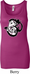 Ladies Yoga Tanktop Om Mashup Longer Length Tank Top