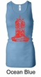 Ladies Yoga Tanktop Red Tara Longer Length Racerback Tank Top