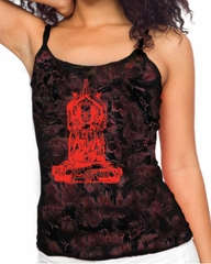 Ladies Yoga Tanktop Red Tara Tie Dye Tank Top